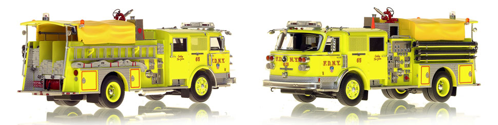 FDNY's 1980 Engine 65 scale model is hand-crafted and intricately detailed.