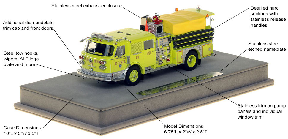 Features and Specs of FDNY's 1980 American LaFrance Engine 65 scale model