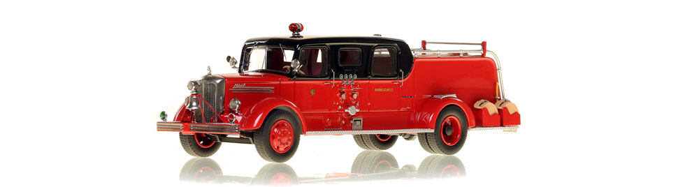 The very first museum grade replicas of Chicago's 1948 Mack L Sedan Cab Pumpers