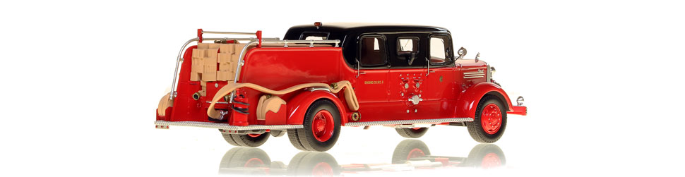 Each Mack L Sedan Cab pumper for Chicago is hand-crafted.