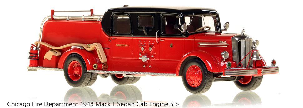 Order your classic Chicago Mack L Sedan Cab Engine 5 scale model!