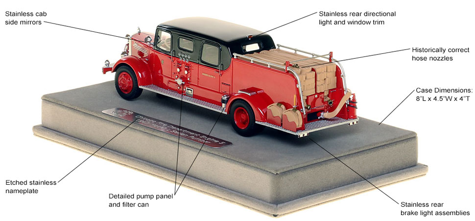 Features and specs of the 1948 CFD Mack L Sedan Cab Engine 5