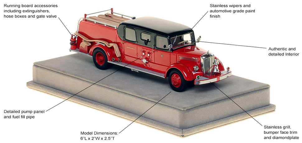 Specs and Features of the 1948 CFD Mack L Sedan Cab Engine 5