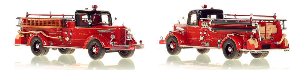 The very first museum grade replicas of Chicago's 1949 Mack L Coupe Cab Engine 25