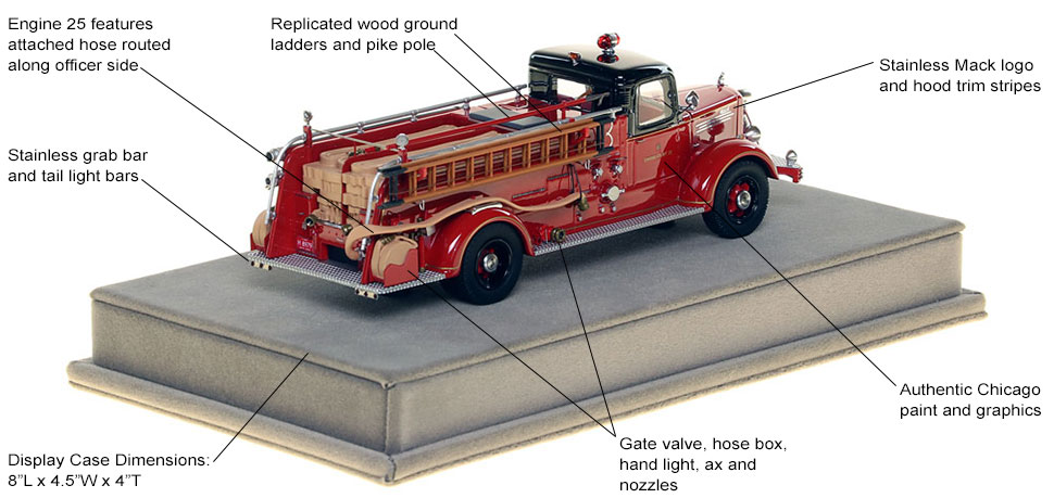 Specs and Features of the 1949 CFD Mack L Coupe Cab Engine 25