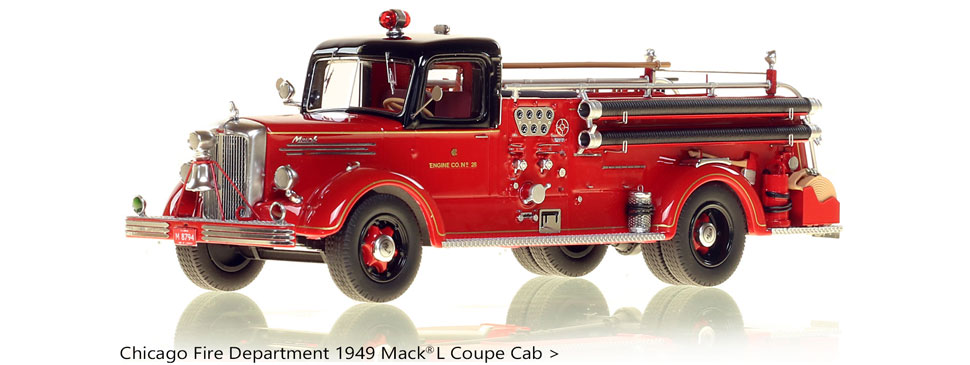 Chicago Fire Department Mack L Coupe Cab Engine 28