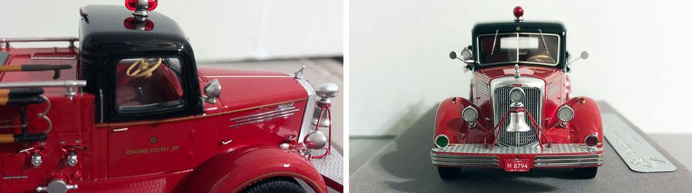 Closeup pics 3-4 of Chicago 1949 Mack L Engine 28 scale model
