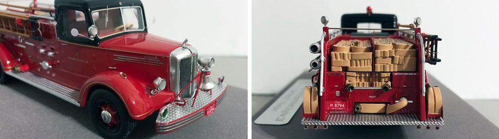 Closeup pics 9-10 of Chicago 1949 Mack L Engine 28 scale model