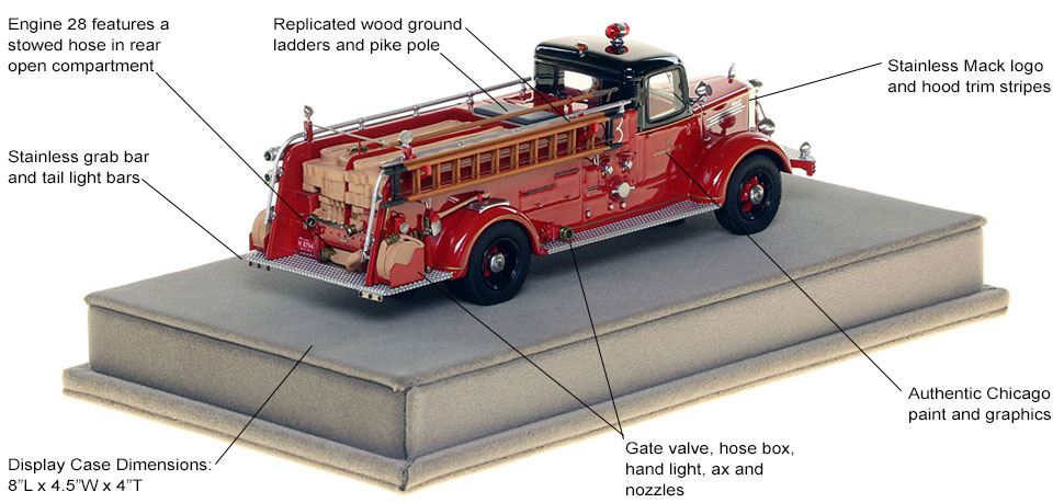 Specs and Features of the 1949 CFD Mack L Coupe Cab Engine 28