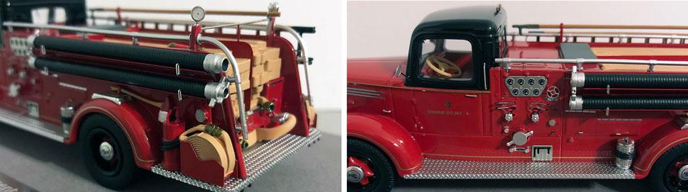 Closeup pics 9-10 of Chicago Mack L Engine 4 scale model