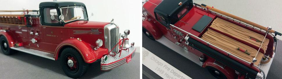 Closeup pics 7-8 of Chicago 1949 Mack L Pumper scale model