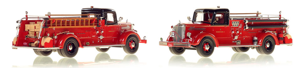 The very first museum grade replicas of Chicago's 1949 Mack L Coupe Cab Engine 4
