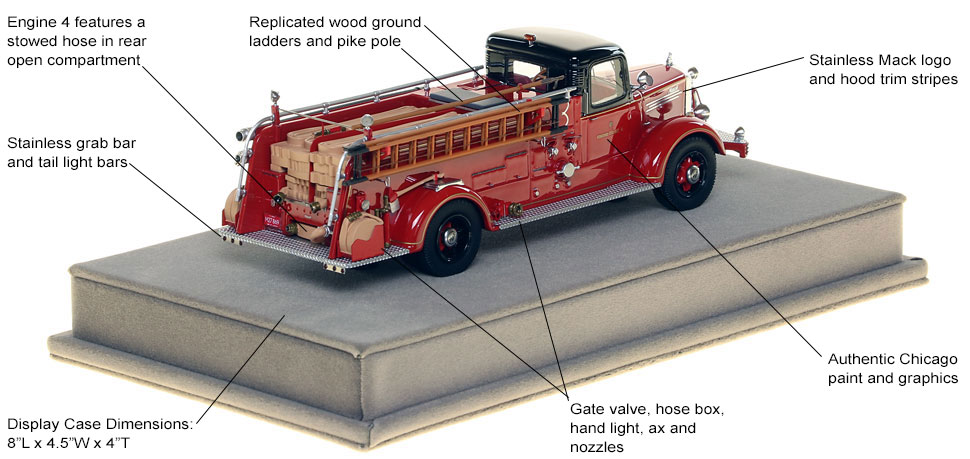 Specs and Features of the 1949 CFD Mack L Coupe Cab Engine 4