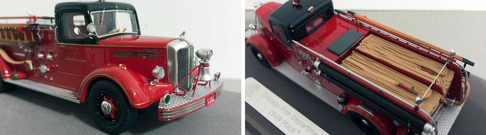 Closeup pics 1-2 of Chicago 1949 Mack L Engine 68 scale model