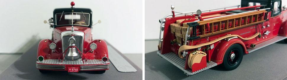 Closeup pics 5-6 of Chicago 1949 Mack L Engine 68 scale model