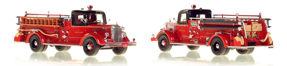 The very first museum grade replicas of Chicago's 1949 Mack L Coupe Cab Engine 68