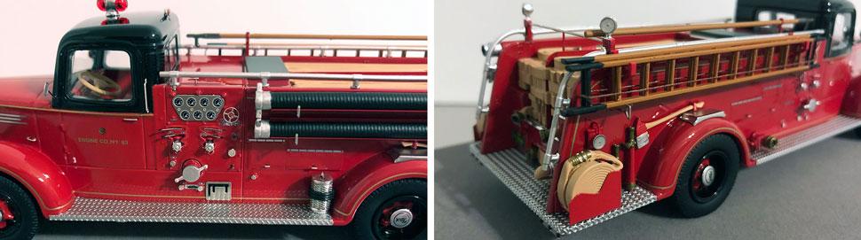 Closeup pics 1-2 of Chicago Mack L Engine 83 scale model