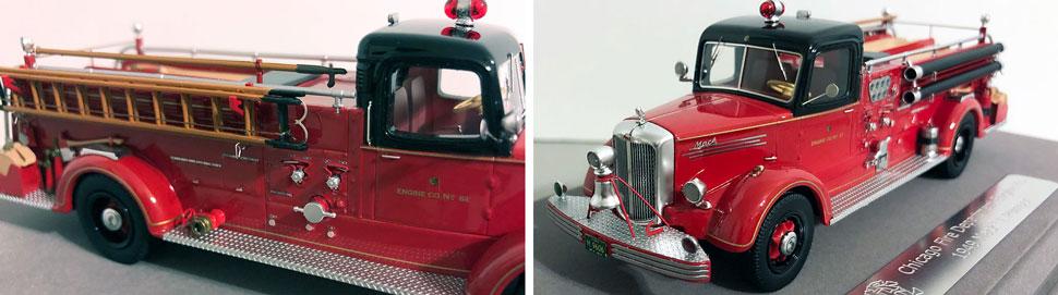 Closeup pics 5-6 of Chicago Mack L Engine 83 scale model
