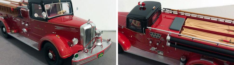 Closeup pics 9-10 of Chicago Mack L Engine 83 scale model
