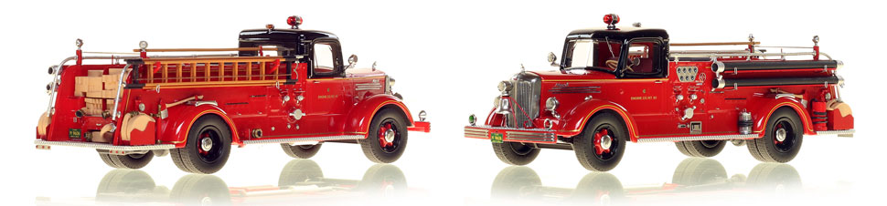 The very first museum grade replicas of Chicago's 1949 Mack L Coupe Cab Engine 83