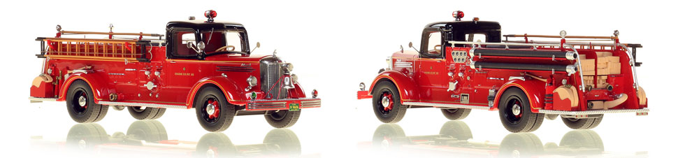 Chicago's 1949 Mack L Engine 83 is hand crafted and limited in production