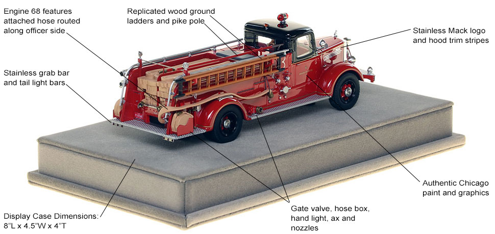 Specs and Features of the 1949 CFD Mack L Coupe Cab Engine 68