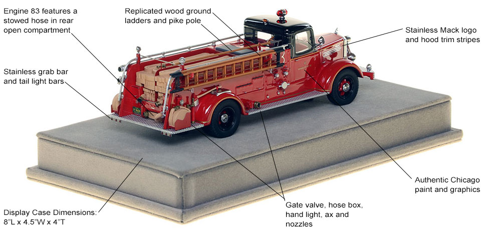 Specs and Features of the 1949 CFD Mack L Coupe Cab Engine 83