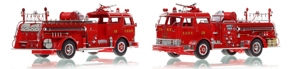 The first museum grade scale model of Staten Island's 1958 Mack C Engine 156