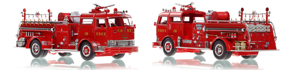 FDNY's Mack C Engine 156 scale model is hand-crafted and intricately detailed.