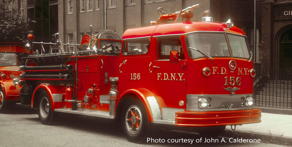 FDNY Mack C Engine 156 courtesy of John A. Calderone