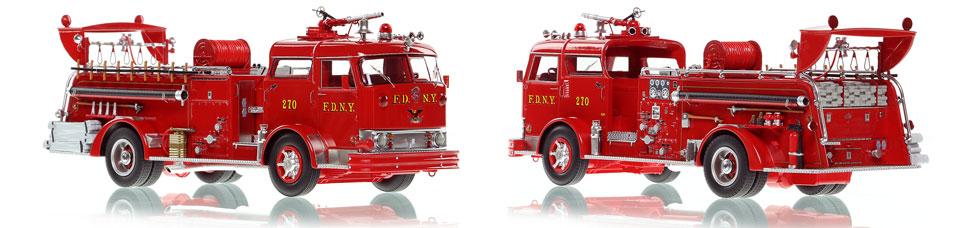 The first museum grade scale model of the 1958 Mack C Queens Engine 270