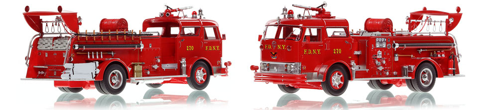 FDNY's Mack C Engine 270 scale model is hand-crafted and intricately detailed.