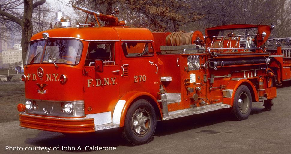 FDNY Mack C Engine 270 courtesy of John A. Calderone
