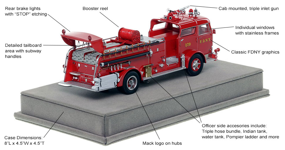 Specs and Features of FDNY's 1958 Mack C Engine 270 scale model