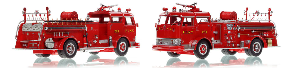 The first museum grade scale model of Brooklyn's 1958 Mack C Engine 283