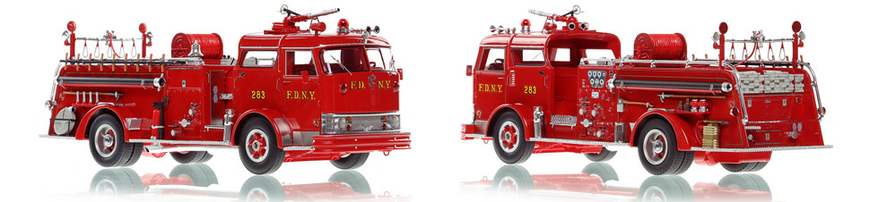 FDNY's Mack C Engine 283 scale model is hand-crafted and intricately detailed.