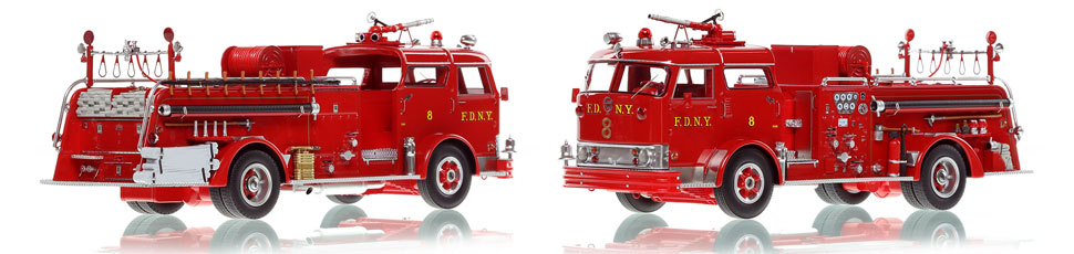 The first museum grade scale model of Manhattan's 1958 Mack C Engine 8