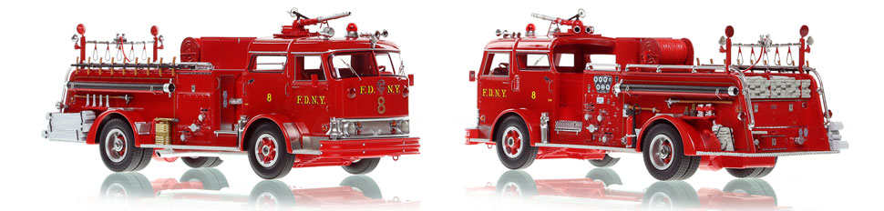 FDNY's Mack C Engine 8 scale model is hand-crafted and intricately detailed.
