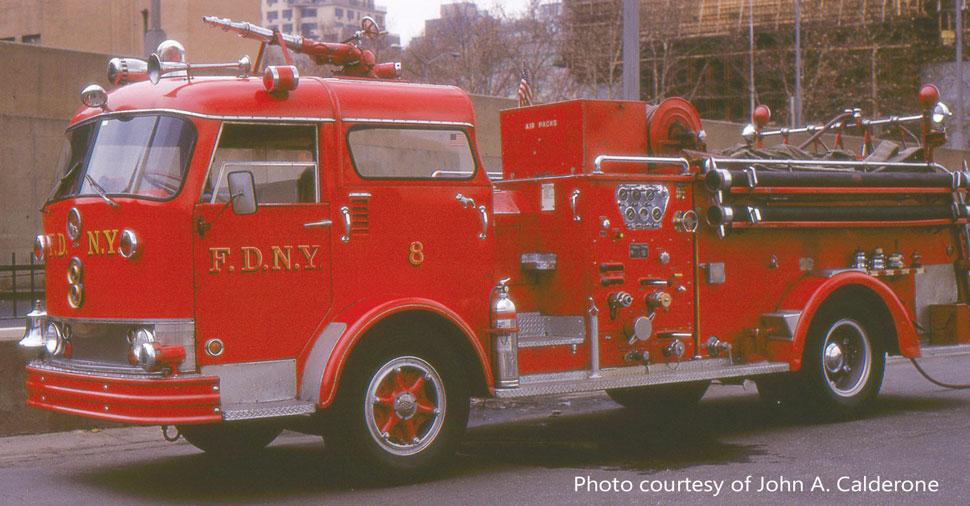 FDNY Mack C Engine 8 courtesy of John A. Calderone