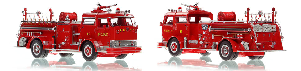 The first museum grade scale model of the 1958 Mack C Bronx Engine 94