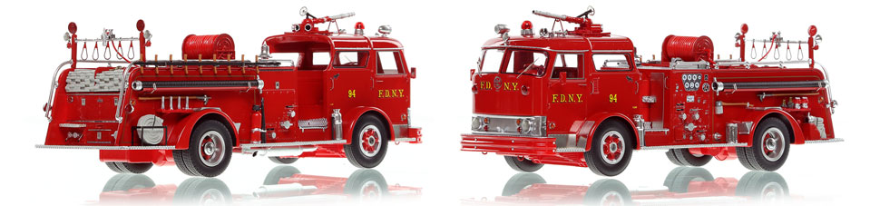 FDNY's Mack C Engine 94 scale model is hand-crafted and intricately detailed.