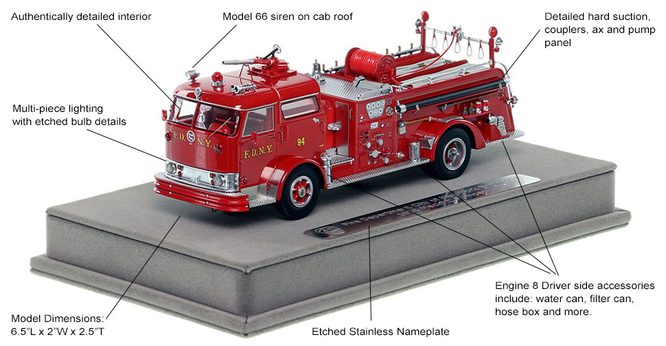 Features and Specs of FDNY's 1958 Mack C Engine 94 scale model