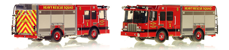Detroit Fire Department Heavy Rescue Squad 1 scale model