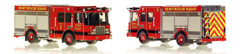 Detroit's Heavy Rescue Squad 1 is hand-crafted and intricately detailed.