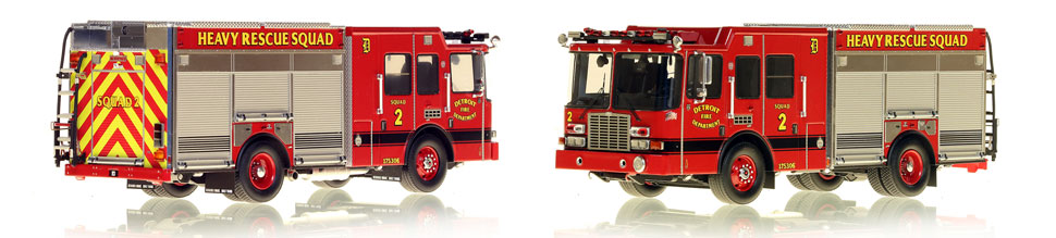 Detroit's Heavy Rescue Squad 2 is hand-crafted and intricately detailed.