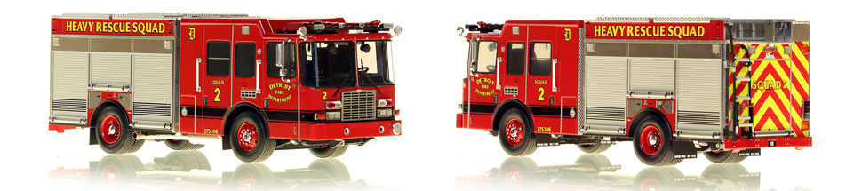 1:50 scale model of Detroit Fire Department HME Heavy Rescue Squad 2