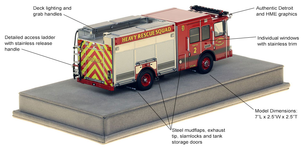 Specs and features of Detroit Heavy Rescue 2 scale model