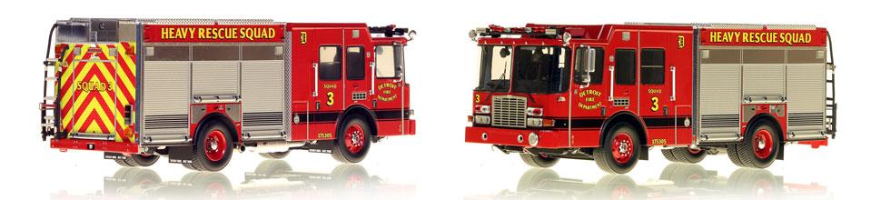 Detroit Fire Department Heavy Rescue Squad 3 scale model