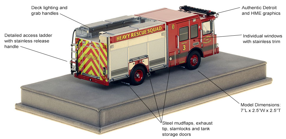 Specs and features of Detroit Heavy Rescue 3 scale model