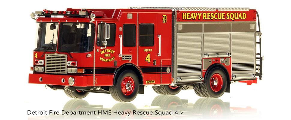 1:50 scale model of Detroit's HME Rescue Squad 4